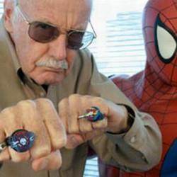 Stan Lee and Spider Man